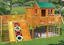 Best Fort Images On Pinterest Playground Ideas Backyard - Backyard fort designs