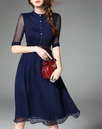 navy blue dress 40 stunning navy blue dresses fashionetter