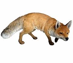 arts real prowling fox resin garden ornament