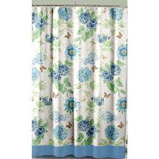 Shower Curtain Amazon Com Lenox Printed Shower Curtain Blue Floral Garden Home