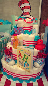 check out dr seuss diaper cake for baby shower cat in the hat