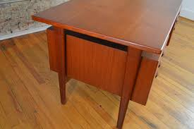 Danish Modern Teak Desk by Kai Kristiansen Danish Teak Desk With Bookcases Galaxiemodern