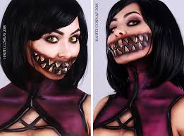 Mileena Halloween Costume Mortal Kombat Mileena Cosplay Face U0026 Body Paint Imgur