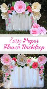 wedding backdrop design template learn how to make this and easy paper flower backdrop