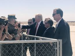amazing potus trump meets with marines in yuma ahead of phx rally