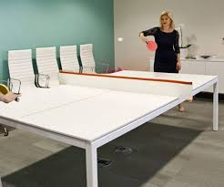 Table Tennis Meeting Table Pong Conference Table