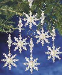 beadery holiday ornament kit snow crystal dangler 7332 u2013 creative