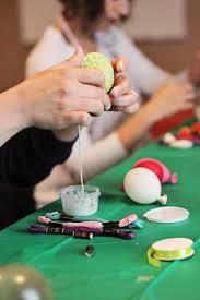 yarn easter egg craft make string easter eggs