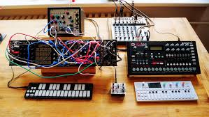 Small Desk Top by My Small Desktop Setup Synthesizers