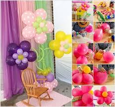 balloon decoration for birthday at home diy balloon decoration home design for christening ideas birthday