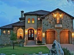 tuscan style home with stone walls for classy look tuscan style
