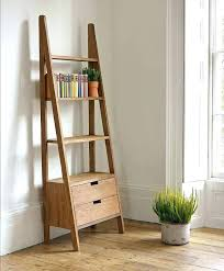 Corner Ladder Bookcase Industrial Ladder Bookshelf Cafedream Info