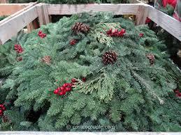 live christmas wreaths 28 inch fresh mixed wreath