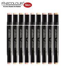 finecolour skin tone brush markers ef102 felt graphic pens dual