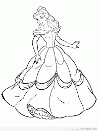 princess belle printable coloring pages coloring