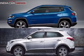 jeep compass length jeep compass vs hyundai creta price specs comparison