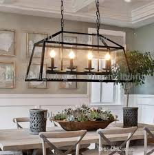 discount retro rustic wrought iron black chandelier light