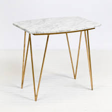 worlds away suzy gold leaf and white marble side table matthew izzo