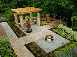 Small Backyard Garden Ideas by Landscape Awesome Gray And Brown Square Stone Landscaping Ideas