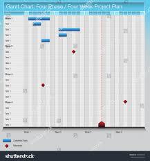 image fourphasefourweek gantt chart stock vector 109488278
