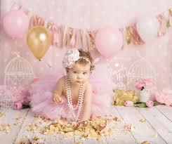 cake smash cake smash pink and gold cake smash pink and