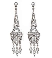 Black And Silver Chandelier Earrings Ben Amun Bridal Crystal Deco Chandelier Earrings Thomas Laine