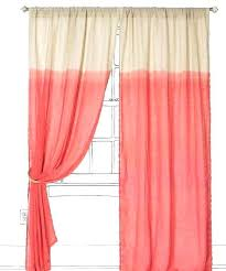 Sheer Coral Curtains Coral Colored Curtains Bedroom Curtains Coral And Green Shower