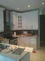 mdf ash white shaker cabinets with taj royal quartz counter top
