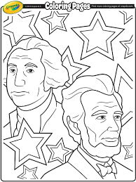 george washington and abraham lincoln coloring page crayola com