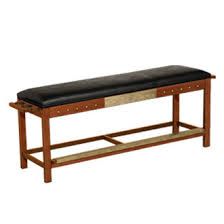 pool table spectator bench harley davidson spectator bench bar and shield flames brown ozone