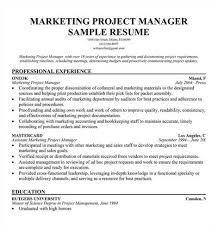 Sample Resume For Marketing Job by Link To An Marketing Project Manager Resume