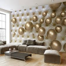 Interior Wallpaper For Home 3d Wallpaper Modern Abstract Mural Golden Soft Back Photo