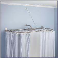 L Shape Curtain Rod L Shaped Shower Curtain Rod Amazon Curtain Home Design Ideas