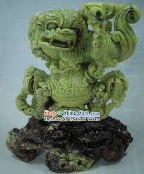 jade lion statue classical qingtian jade lion king sculpture