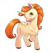 cute cartoon standing unicorn u2014 stock vector lilu330 84988522