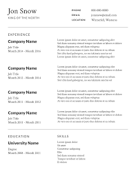 Free Printable Resume Template Free Resume Templete Resume For Your Job Application