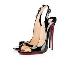 christian louboutin sova heel leather black christian louboutin