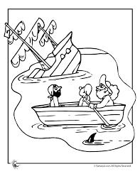 sinking pirate ship coloring woo jr kids activities