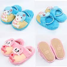 children fashion winter cotton slippers cartoon mermaid kids