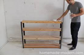 Woodworking Bookshelves Plans by Homemade Modern Ep36 Ironbound Bookcase