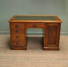 Antique Pine Computer Desk by Unusual Victorian Antique Pitch Pine Pedestal Desk Antiques World