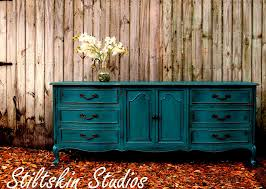 painted peacock blue dresser makeover french provincial dresser