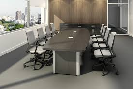 Large Conference Table Tayco Metropolis Boat Shaped Conference Table