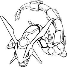 pokemon coloring pages rayquaza www bloomscenter com