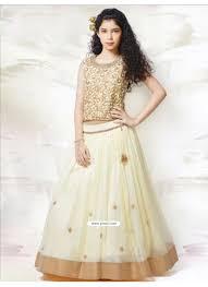 buy girlish cream mononet n silk dress indowestern dresses for girls