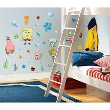 Wall Decor Stickers Walmart by Spongebob Removable Decals Potty Training Concepts