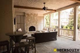 custom flagstone porch with fireplace u2013 dunwoody ga