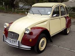 Classic Chrome Citroen 2cv 1987 E Cream