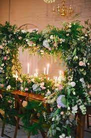 spring indoor garden wedding inspiration ruffled