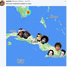 Cuba Meme - they re all in cuba snapchat map parodies know your meme